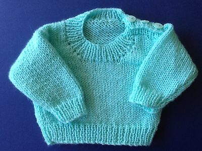 New hand knitted baby Jumper. Green. Sz 0000. Save post on 2 items