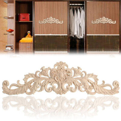 Wood Retro Carving Ornament Window Cabinet Door Furniture Crafts Decoration Hot