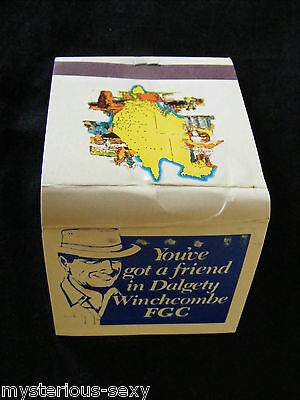 Advertising DALGETY WINCHCOMBE FGC MATCHBOOK & MATCHES  ~ Flip Top ~Vintage Old