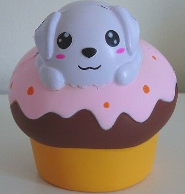 JUMBO Puppy Dog Cupcake Squishy *PINK* Super Slow Rising! SHIPS FROM USA