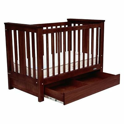 NEW Touchwood Metro Bar Cot with Drawer in Brown
