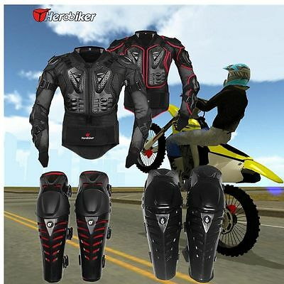 Motorcycle Motorcross Racing Full Body/Knee Armor Spine Chest Protective Jacket