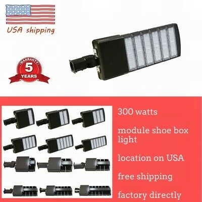 LED Parking Lot Light 50/150/200/300W Module Street  Pole fixture Area Light