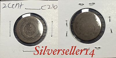 2 cent cull lot 1865-1873 RARE COIN nice brown tone #C26