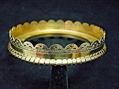 NEW  4 INCH  SOLID BRASS  DECORATIVE  BALL and GAS  SHADE  RING  fits ALADDIN