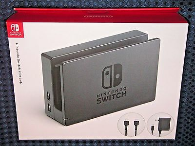 Nintendo Official Switch Dock Set HDMI cable AC adapter Console System JAPAN F/S