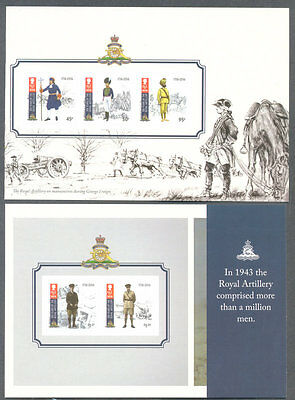 Isle of Man-Royal Artillery complete booklet panes self-adhesive