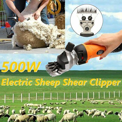AU 500W Electric Shearing Supplies Sheep Goat Livestock Clipper Farm Alpaca Set