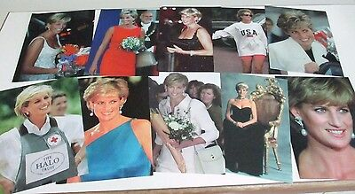 Set of Ten Portrait Prints of Diana, Princess of Wales - Photos Taken 1991-1997