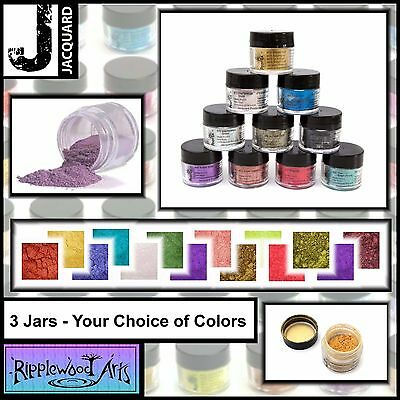 Jacquard Pearl Ex - Powdered Pigments 3gm Jars - Your choice of 3 Colors