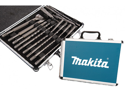 Makita kit 17 punte e scalpelli sds plus in valigetta di alluminio D-42444