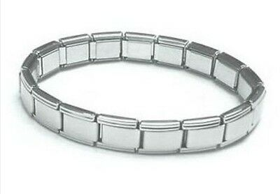 ITALIAN CHARM CLASSIC BASE BRACELET - 18 x 9mm Stainless Steel Links - Starter
