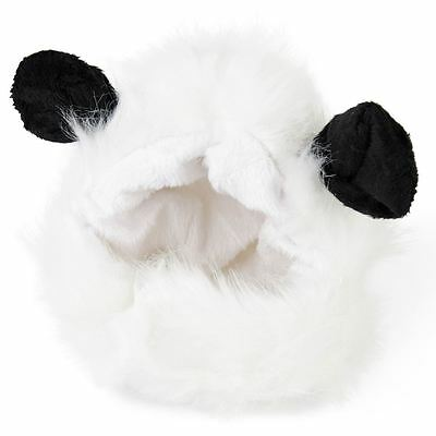 Cute Fluffy Panda Hat Wig Accessory for Cat Puppy Dog Funny Pet Costume