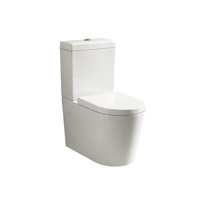 Round Modern Design Wall Faced Toilet Suite P Or S Trap Melbourne