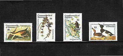 Dominica 1985 Centenary Birth of John Audubon SG 939/42 MUH