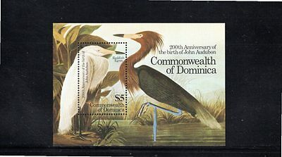 Dominica 1985 Centenary Birth of John Audubon Miniature Sheet SG MS943 MUH