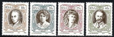 (Ref-10627) South Africa 1984  English Authors  SG.554/557  Mint (MNH)