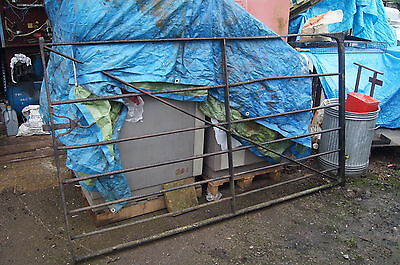 wrought iron gate large and heavy 5 bar gate 7' long old origional