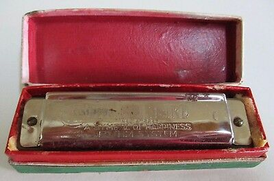 Vintage Harmonica - The Blue Bird - Bohm System Mouth Organ - Made in Germany