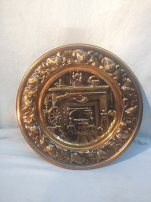 Brass copper Stove pipe cover plate for fire place harth Architectural salvage