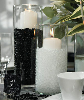 Water Beads Aqua Soil Ball Bio Gel Crystal Vase Filler Wedding Table Centrepiece