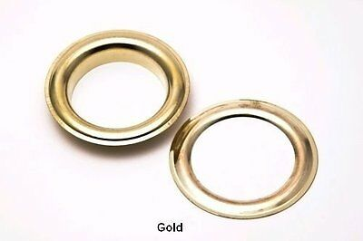 50 100 x 20mm Eyelets & Washers Brass Rust Proof Leather Arts Banner Tarpaulin