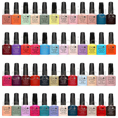 CND Shellac UV Gel 14+ Day Nail Polish CHOOSE From 111 Colours, Top or Base Coat