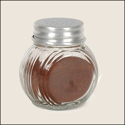Glass Sellers Jar With Punched Lid