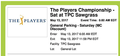Players Parking Pass Saturday Instant Download