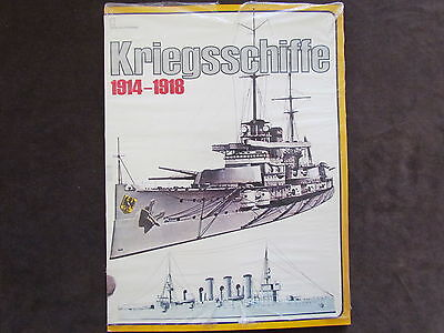 Germany Navy Ship Book Kriegsschiffe 1914 - 1918 - Fotos
