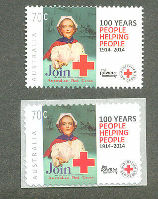 Australia-Red Cross-Nursing-Medical mnh gummed + self-adhesive(220140