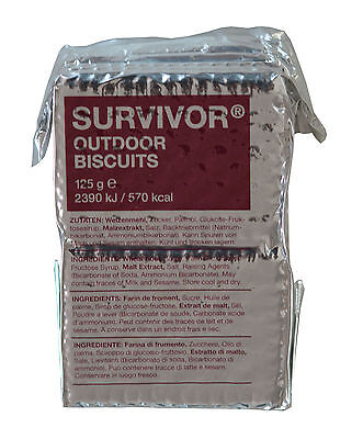 10x / 20x Survivor Outdoor Biscuits Kekse à 125 g Hartkekse MSI 13,80€-17,20€/kg
