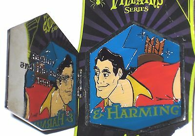LE Disney Pin✿Beauty Beast Villain Gaston Charming Harming Hinged 1991 Mirror LE