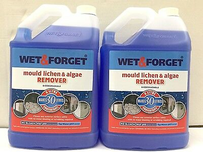 2 x 5L WET AND FORGET MOULD, ALGAE AND LICHEN REMOVAL Garden