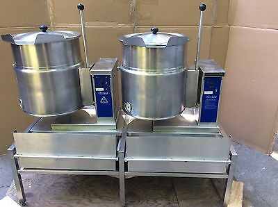 Very Nice Very Clean Double Cleveland Ket-12 Kettle With Built In Stand/strain