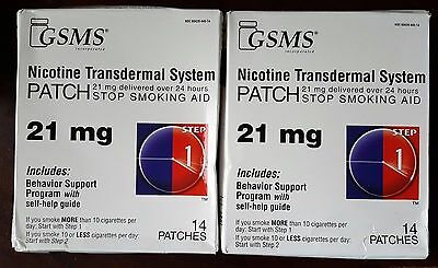 Nicotine Transdermal System Patch, Stop Smoking Aid, 21 mg, Step 1, 28 patches
