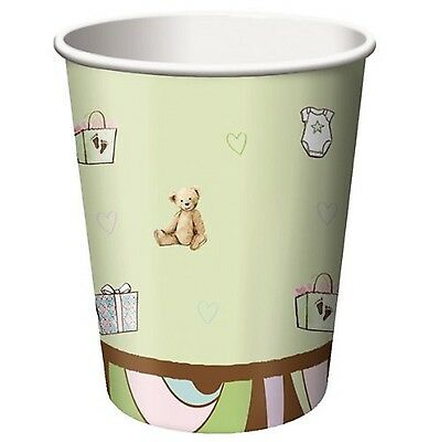 Pack of 8 Parenthood Unisex Baby Shower Paper Party Cups - 256 ml