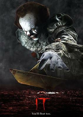 IT 2017 MOVIE POSTER Stephen King Pennywise Photo Print Wall Art Poster A3 A4