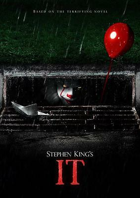 IT 2017 MOVIE POSTER Pennywise Stephen King Photo Print Wall Art Poster A3 A4
