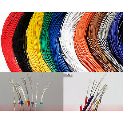 5-10M Flexible Stranded 1pin Wire Cable 26AWG 1007AWM Cord Hook-up DIY LED LampO