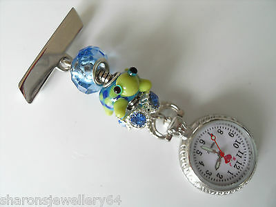 Animal Nurses Charm Pretty Fobwatch  For Beauticians, Healthcare Workers & Vets