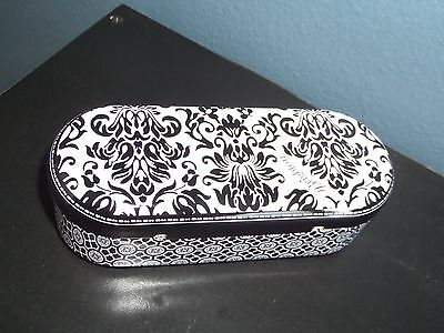Brighton Eye Glass/Sunglasses Tin Metal Case Black and White Damask Print - MINT