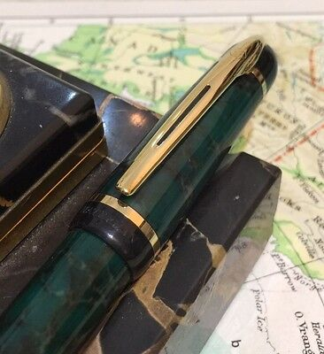 Superb Waterman Phileas Fountain Pen-Green Marble-Boxed-Free Uk Post!