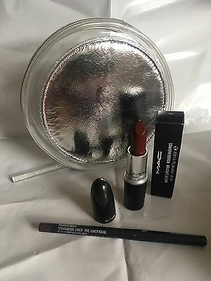 Mac Limited Edition Make Up Bag Lipstick Sin Eye Liner Valentines Present New