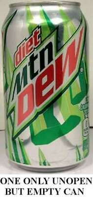 EMPTY UNOPENED 12oz 355ml Can American Diet Mountain Dew 2011 Packaging USA