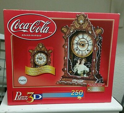 Coca Cola Working Clock Puzz-3D Wrebbit 250 Piece Jigsaw Puzzle