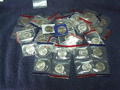 1990-2007 Jefferson Nickels (40 different coins) Choice BU date run in mint celo