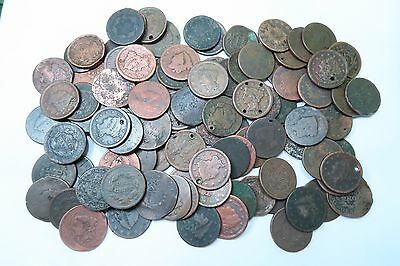 (100) Mixed 1800's Large Cent Lot // 100 COINS // (LCL21)