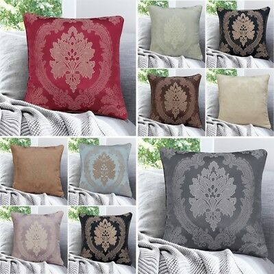 "18"" Cushion Covers Or Padding Jacquard Antique Pattern Sofa Throw Home Decor"
