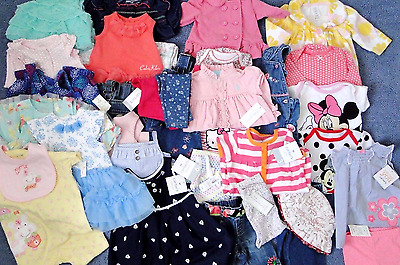29+ items HUGE 3-6 months *many NWT* BABY GIRL SUMMER CLOTHING LOT OUTFIT DRESS